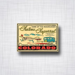 Sticker Colorado Chateau Chaparral