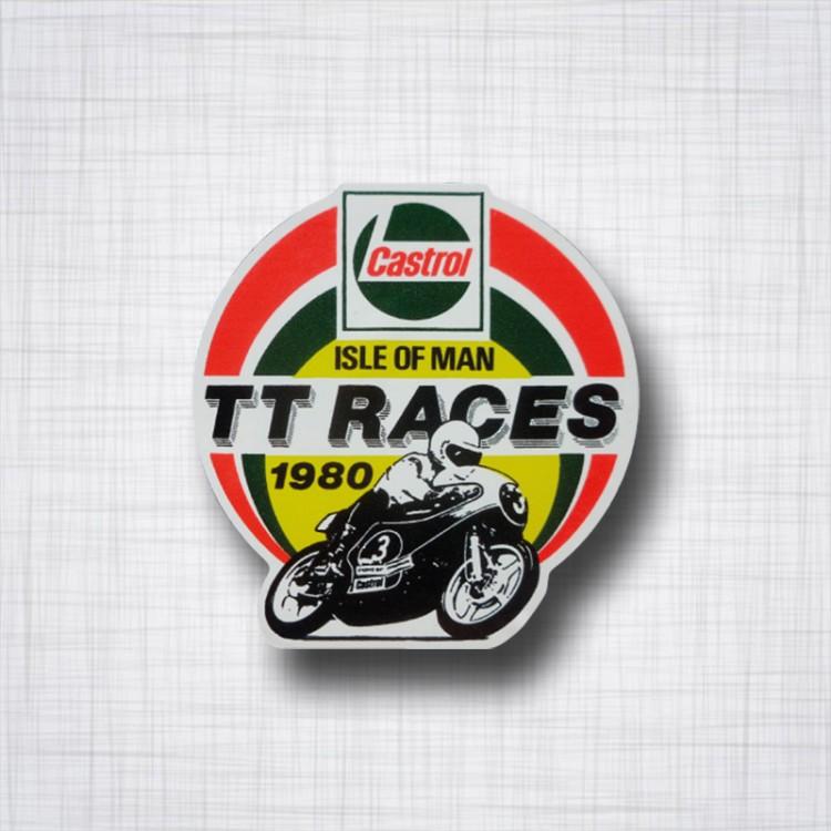 Sticker Castrol Ile de Man TT Races 1980