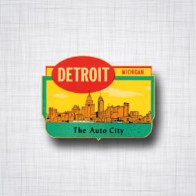 Sticker Detroit The Auto City