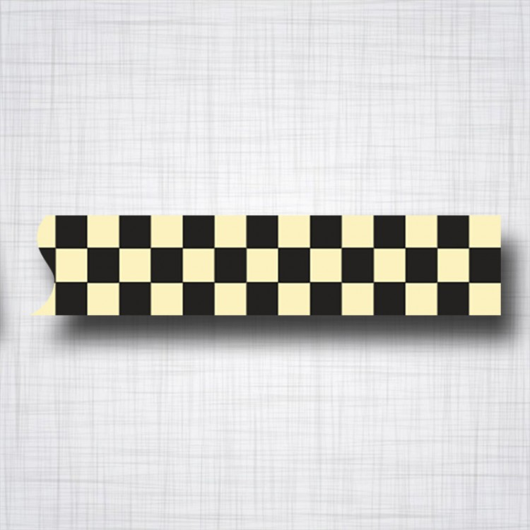 damier noir et beige
