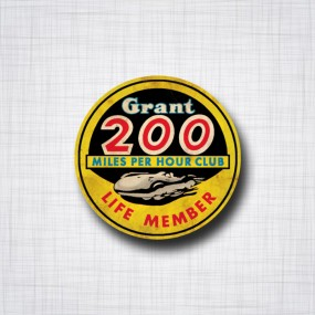 Grant 200 miles per hour Club