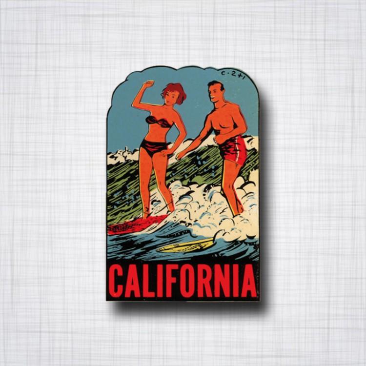 Sticker California Surf