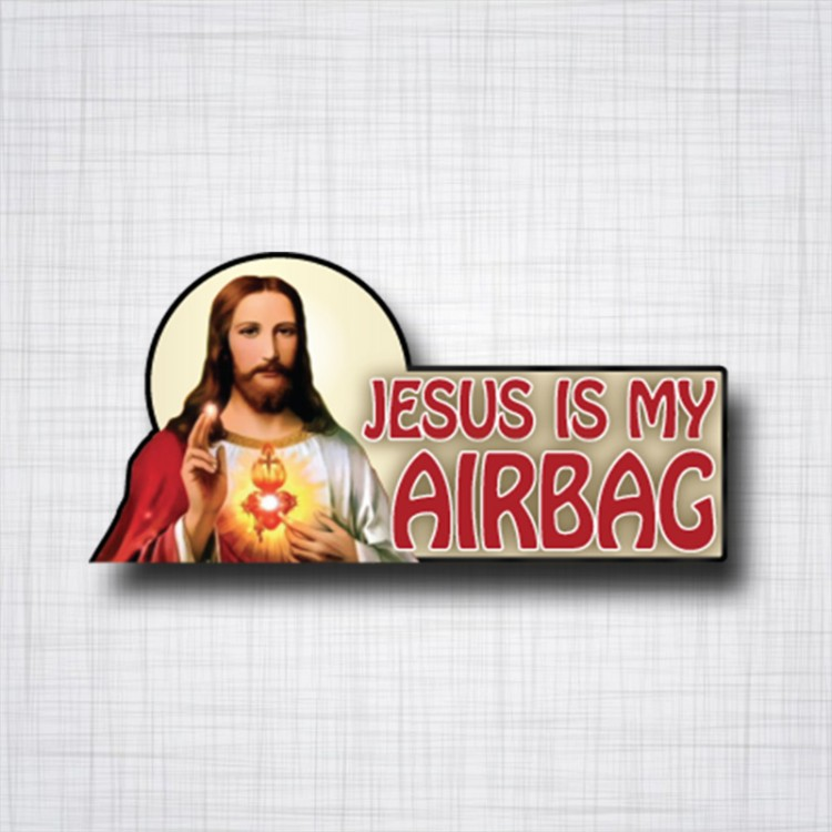 Jesus is my Airbag 120x60