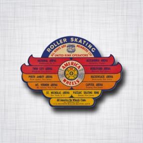Sticker Roller Skate AMERICA WHEELS