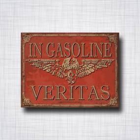 Sticker In gasoline Veritas Skull