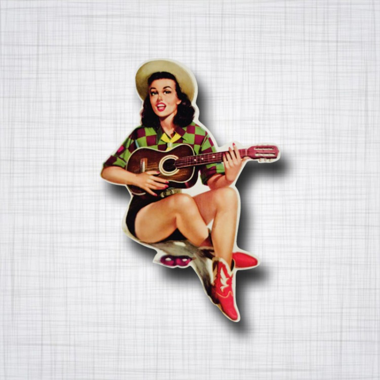 Pin-up Guitare
