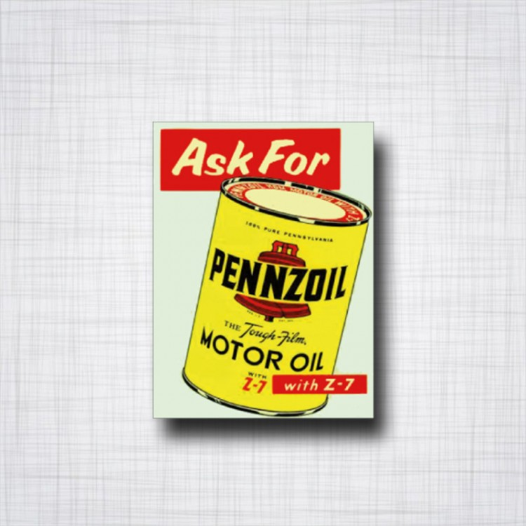 Sticker Ask for PENNZOIL