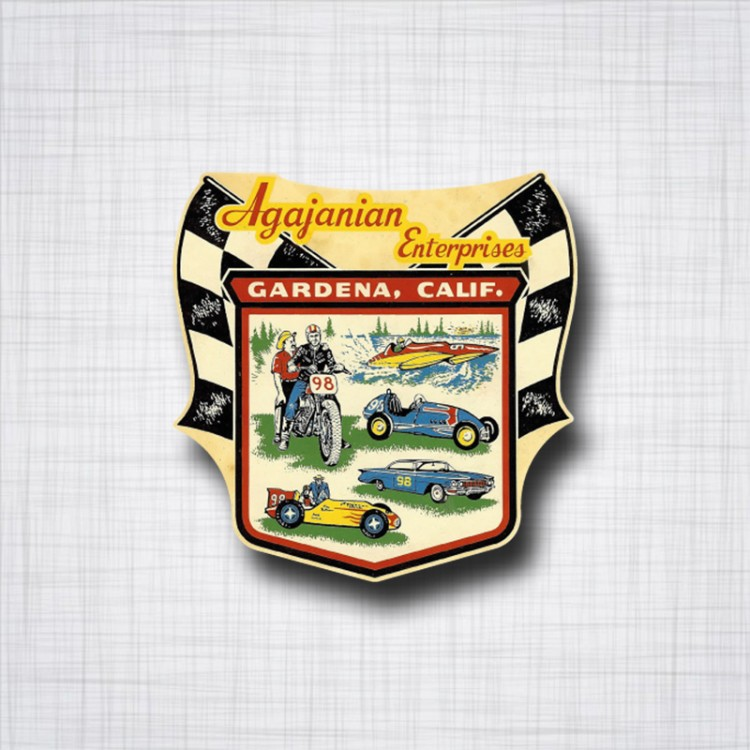 Sticker Agajanian Entreprises