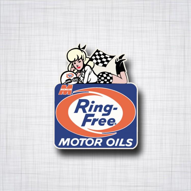 Ring Free Motor Oil Pin-up