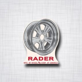 Sticker Rader Wheels
