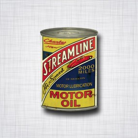 Sticker Streamline Motor Oil