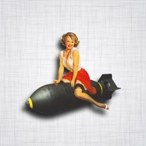 Sticker Pin-up Bomb